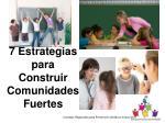 7 estrategias para construir comunidades fuertes