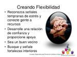 creando flexibilidad