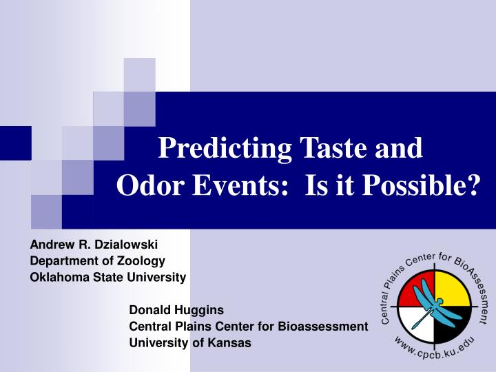 predicting taste and odor events is it possible n.
