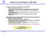 moore s law variations 1965 1997
