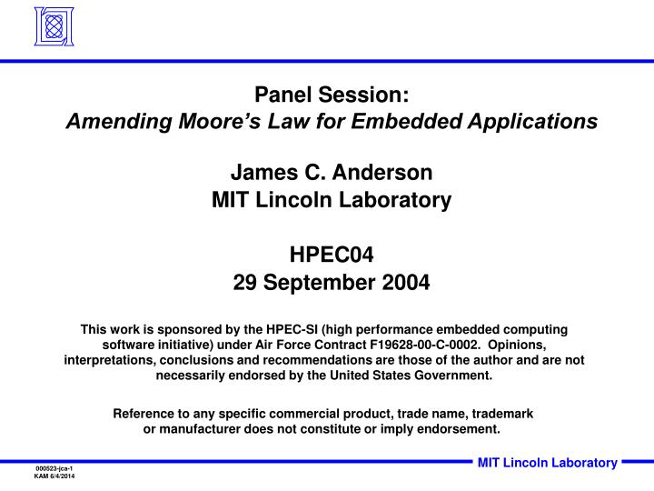 panel session amending moore s law for embedded applications n.