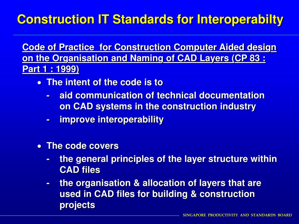 Construction IT Standards for Interoperabilty