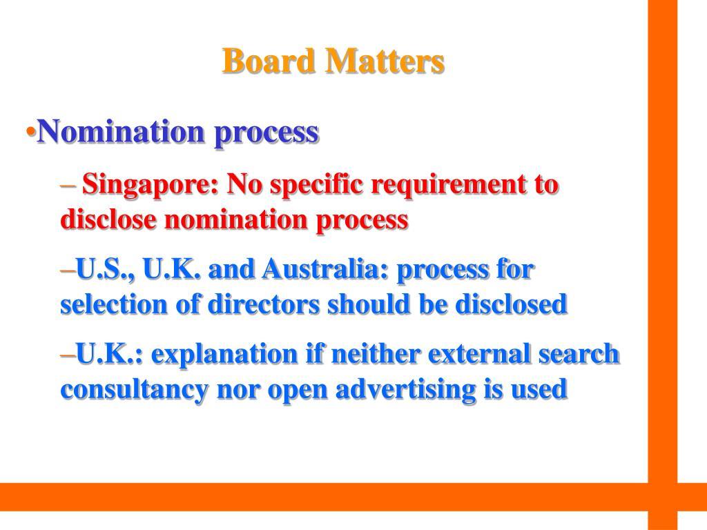 Board Matters
