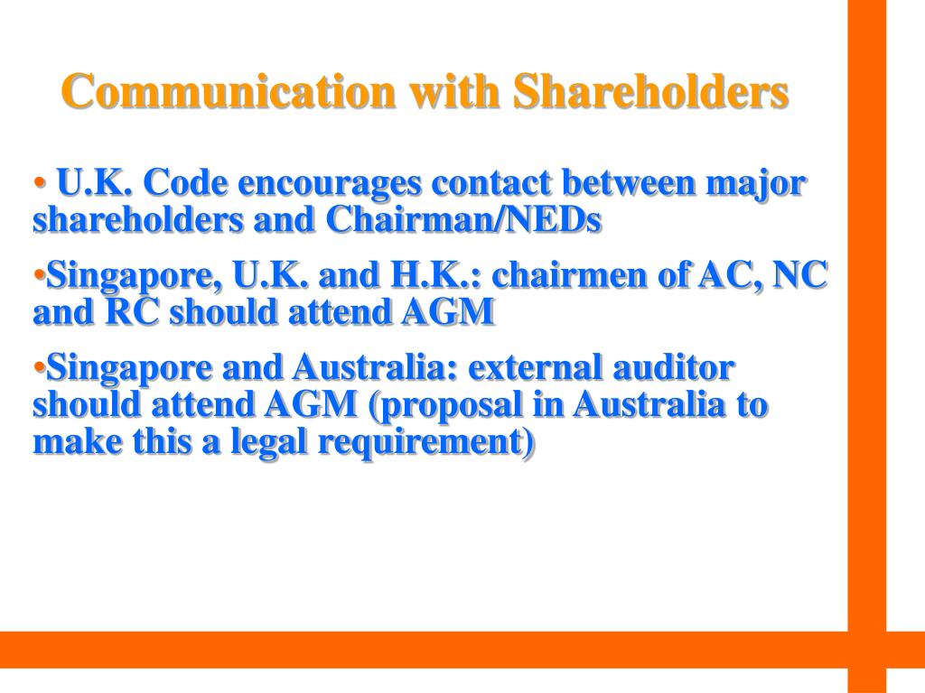 Communication with Shareholders