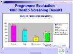 programme evaluation nkf health screening results59