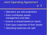 joint operating agreement p 3