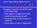 joint operating agreement p 31