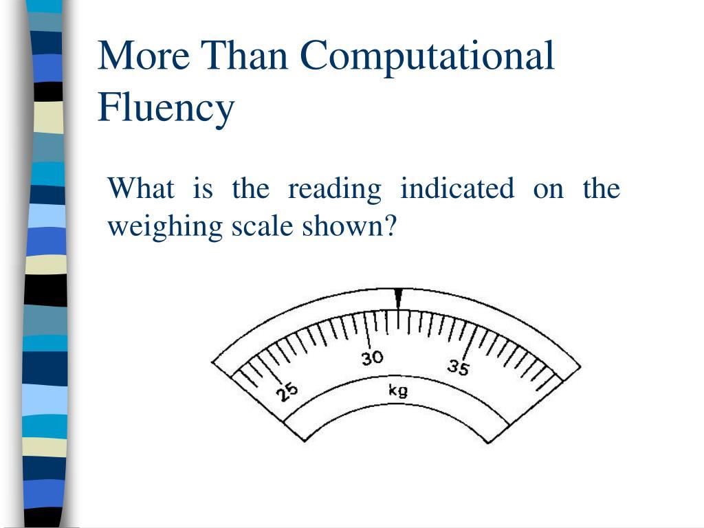 More Than Computational Fluency