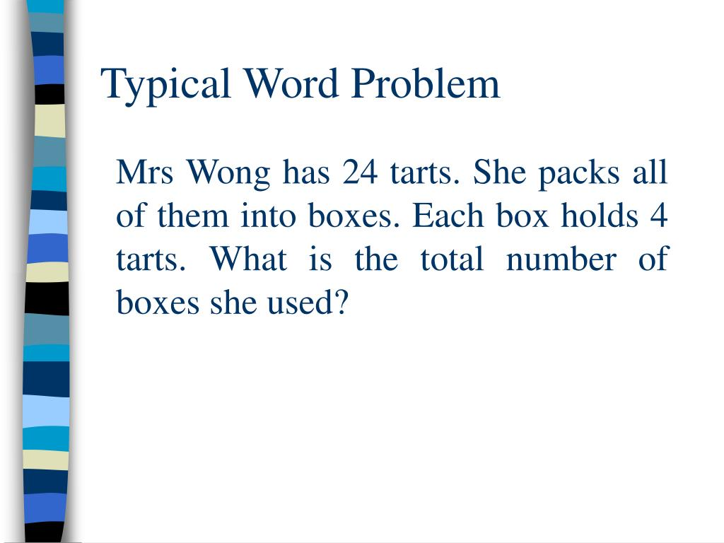 Typical Word Problem