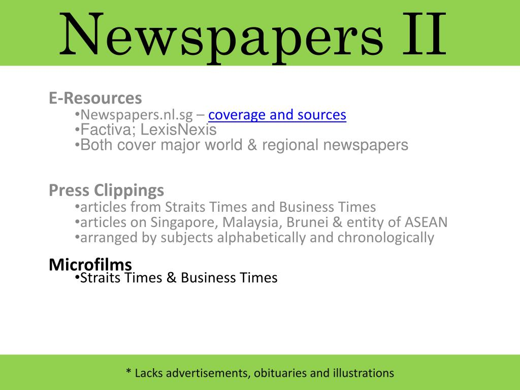 Newspapers II