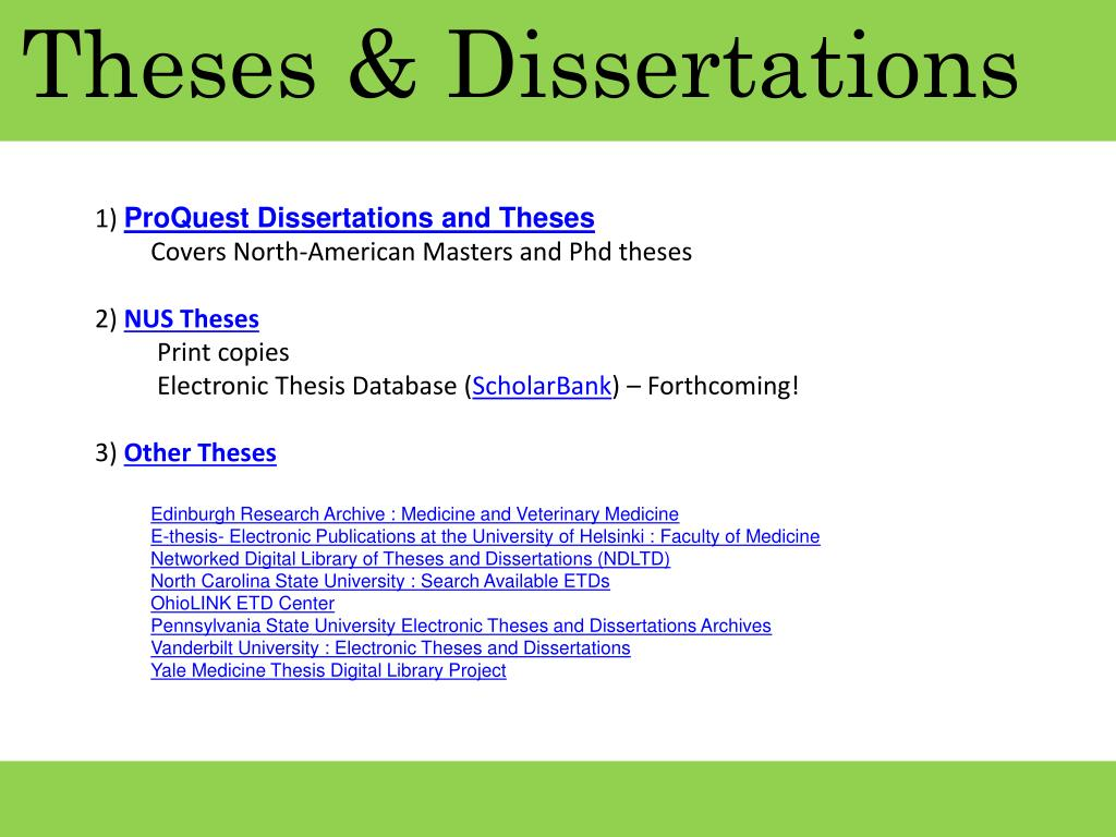 Theses & Dissertations