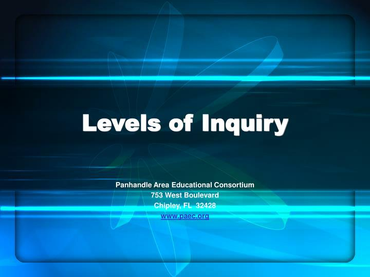 levels of inquiry n.