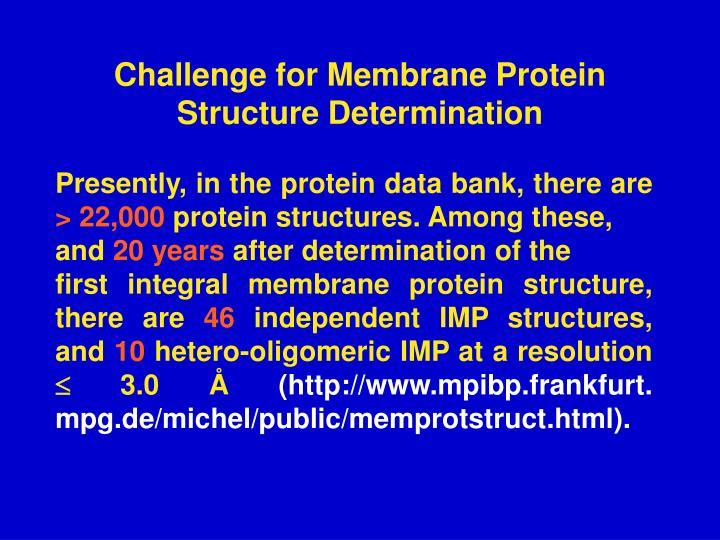 Challenge for Membrane Protein Structure Determination