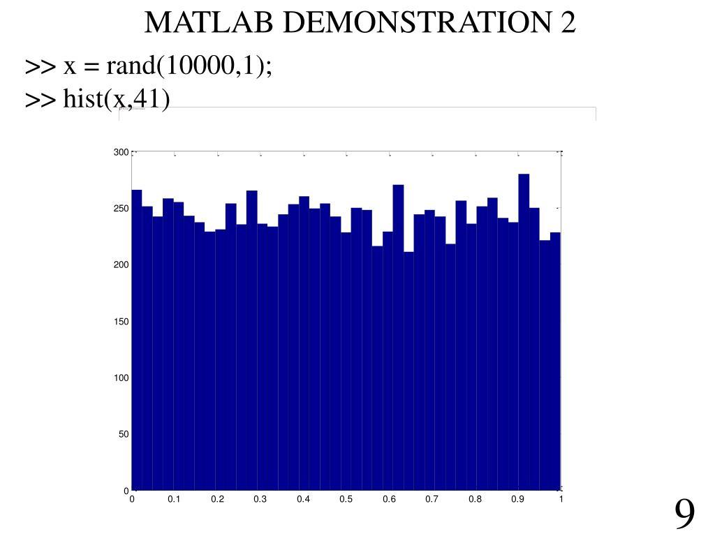MATLAB DEMONSTRATION 2