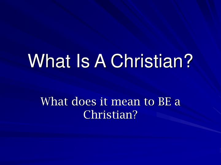 what is a christian n.
