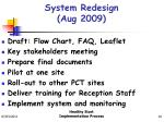 system redesign aug 2009