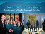 bee hive card creations