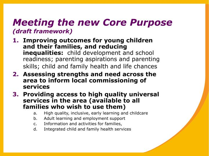 Meeting the new Core Purpose