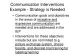 communication interventions example strategy is needed1