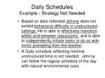 daily schedules example strategy not needed