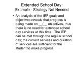 extended school day example strategy not needed