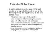 extended school year1