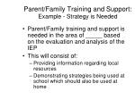 parent family training and support example strategy is needed