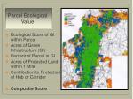 parcel ecological value