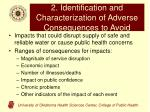2 identification and characterization of adverse consequences to avoid