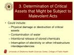 3 determination of critical assets that might be subject to malevolent acts
