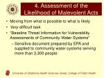4 assessment of the likelihood of malevolent acts