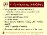 4 communicate with others