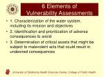 6 elements of vulnerability assessments