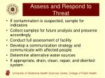 assess and respond to threat