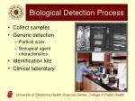 biological detection process