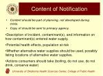 content of notification