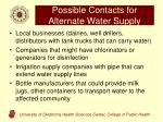 possible contacts for alternate water supply