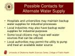 possible contacts for alternate water supply1