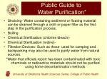 public guide to water purification