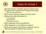 tasks for group 1