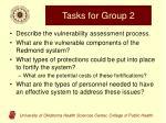 tasks for group 2