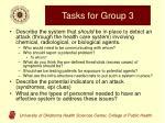 tasks for group 3