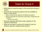 tasks for group 4
