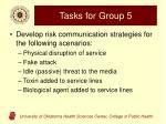 tasks for group 5