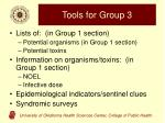 tools for group 3