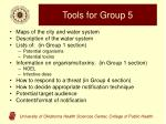 tools for group 5