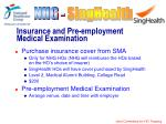 insurance and pre employment medical examination