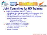 joint committee for ho training