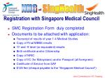 registration with singapore medical council
