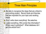three main principles